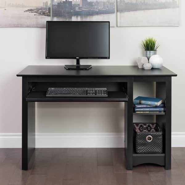 Broadway Black Computer Desk - On Sale - Overstock - 2209047