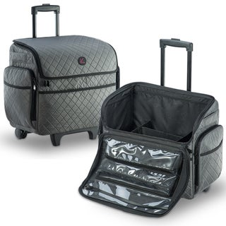 KIOTA Soft Rolling Cosmetic Trolley Removable Storage Pouches