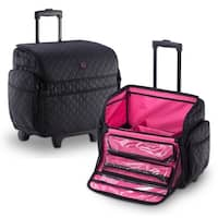 KIOTA Soft Makeup Rolling Cosmetic Trolley Removable Storage Pouches
