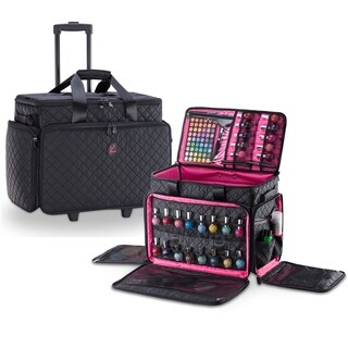 KIOTA Cosmetic Makeup Trolley w/ removable Storage Pouch