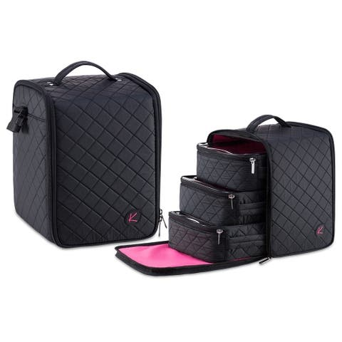 KIOTA Soft-sided Nail Polish Cube 3in1 Organizer Case