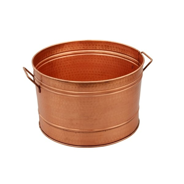 Hammered Pattern Galvanized Farmhouse Style Tub, Copper. Opens flyout.