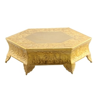 Link to Hexagonal Metal Wedding Cake Stand 14 inches, Gold Similar Items in Serveware