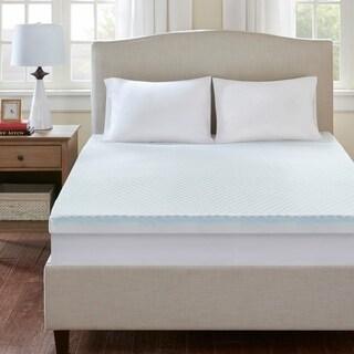 Flexapedic by Sleep Philosophy All Seasons 3-inch Cooling-to-warming Reversible Memory Foam Mattress Topper