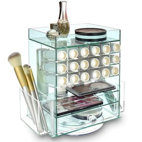 Jewelry Cosmetic Storage Makeup Organizer Lipstick Holder - green