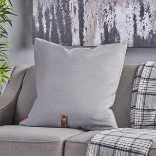 """Edinburgh Mid Century 25"""" Square Fabric Pillow with Faux Leather Strap by Christopher Knight Home"""