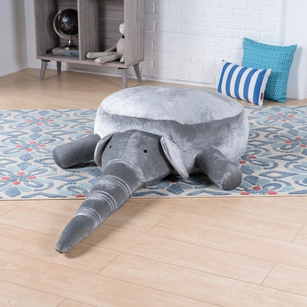Ace Velvet Elephant Bean Bag by Christopher Knight Home
