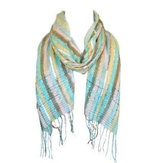 "Women Scarf Wrap Shawl Pashmina Long Cashmere Solid Wool Men Warm Striped Scarves - 65""x19"""