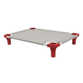 "Mahar Manufacturing 40""x22"" Gray with Red Legs Pet Cot - Unassembled"