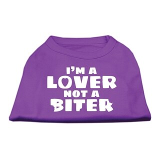 Mirage Pet Products I'm a Lover not a Biter Screen Printed Dog Shirt Purple XX-Large - Size 18