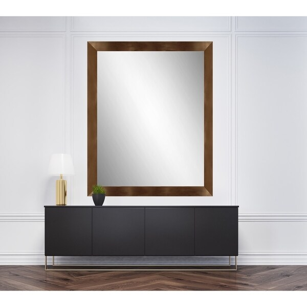 Shop copper framed bathroom full length mirror free - Full length bathroom wall mirror ...