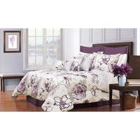 Angelique Printed 7-piece Queen Size Comforter Set (As Is Item)