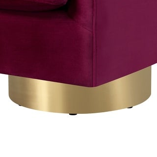 Picket House Furnishings Carolina Button Tufted Swivel Accent Chair