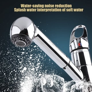 Chrome-plated silver kitchen sink faucet with cover plate