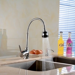Kitchen high bend adjustable hot and cold basin faucet