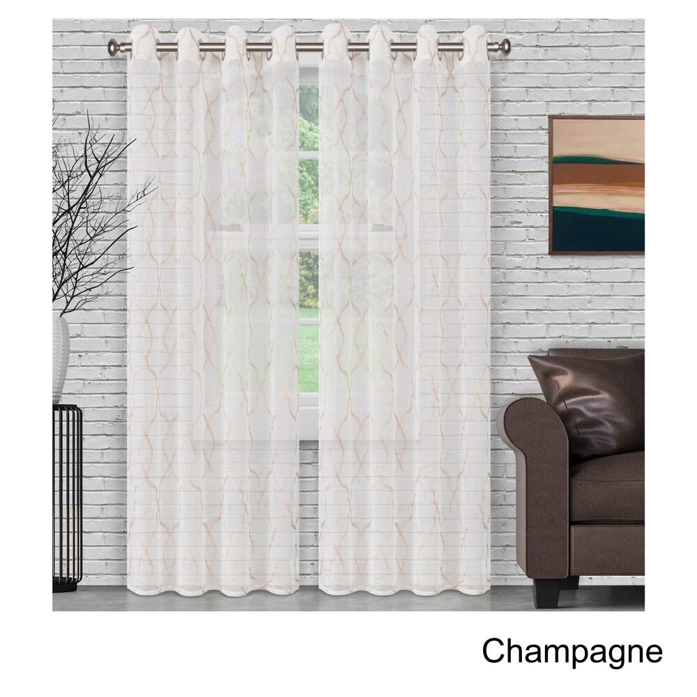 Sheer Grommet Curtain Panel Pair