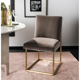 "Safavieh Couture Jenette Velvet Side Chair / Giotto Mouse - 20""w x 25.6""d x 33.3""h"