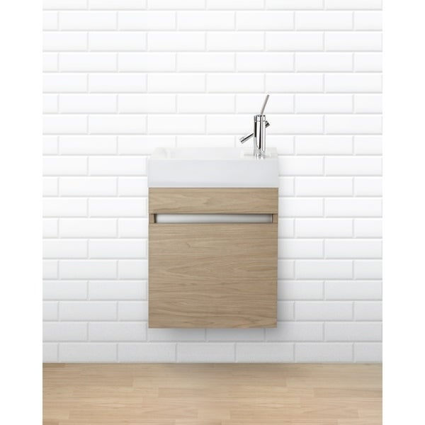 Shop piccolo collection 18 space saver wall mount - Space saving bathroom vanity ...