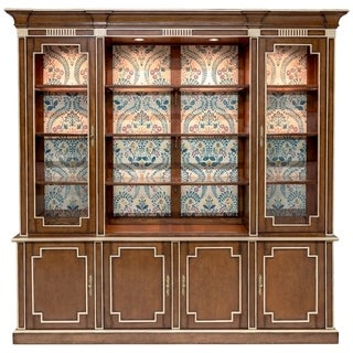 "Safavieh Couture Juliano Antique Style Vitrine / Cherry - 95.66""w x 19.68""d x 94.48""h"