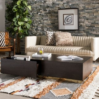 Safavieh Couture Leroux Oak/ Gold Commercial Grade Coffee Table