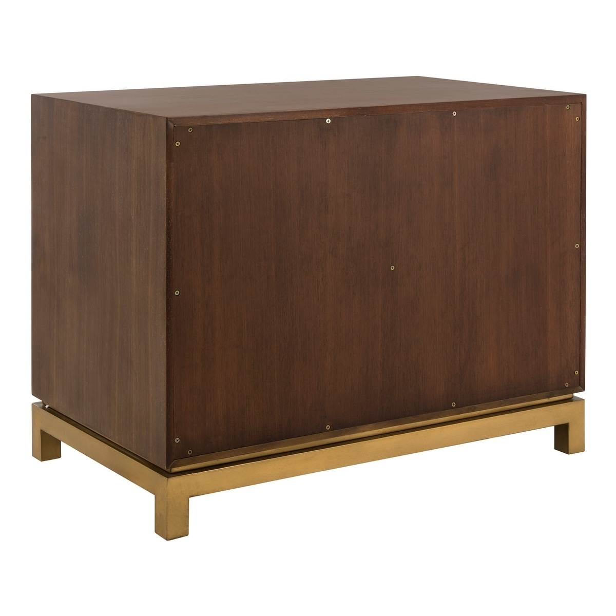 Safavieh Couture Estela Wood Nightstand Bleached Walnut Brass Overstock 22093561