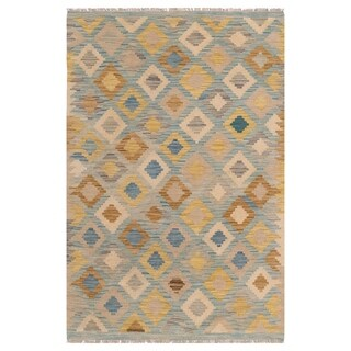 Link to Handmade One-of-a-Kind Wool Kilim (Afghanistan) - 3'1 x 4'7 Similar Items in Transitional Rugs