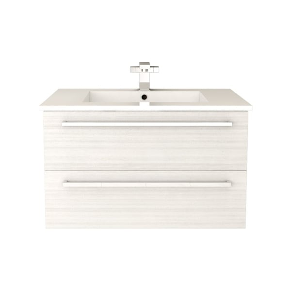 Cutler Kitchen Bath Silhouette Collection White Chocolate Wall Mount Bathroom Vanity