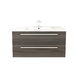 "Silhouette Collection 36"" Wall Mount Bathroom Vanity - 2 Drawers With Top, Zambukka"