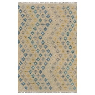 Link to Handmade One-of-a-Kind Wool Kilim (Afghanistan) - 3'2 x 4'8 Similar Items in Transitional Rugs