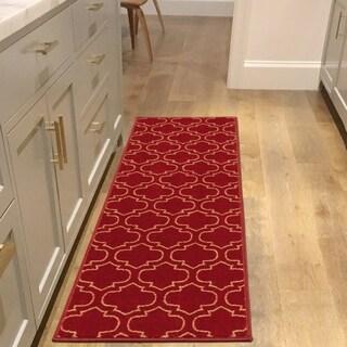"""Sweet Home Stores Trellis Design Non-Slip Rubber Backing Runner Rug - 20''X59'' - 20""""X59"""""""