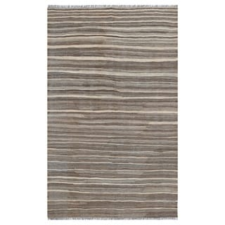 Link to Handmade One-of-a-Kind Wool Kilim (Afghanistan) - 3'11 x 6'4 Similar Items in Transitional Rugs