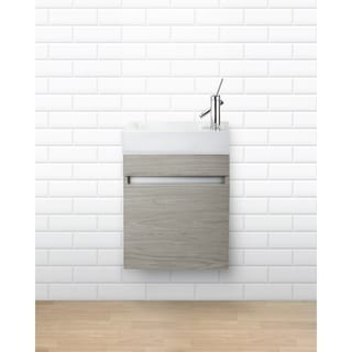 "Piccolo Collection 18"" Space Saver Wall Mount Bathroom Vanity - Weekend Getaway"