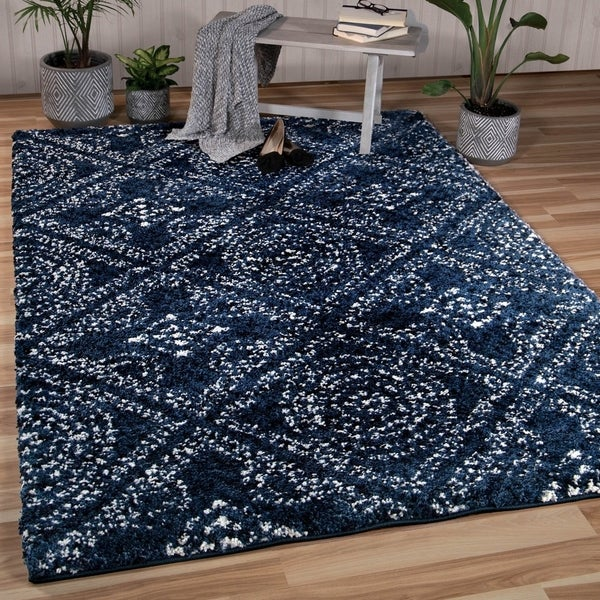 Orian Rugs Bellwether Camille Navy Area Rug 5 X27 3 X 7