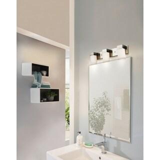 Eglo Ciara Springs 3-Light Bath Vanity Light in Brushed Nickel