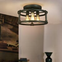Eglo Wymer 3-Light Ceiling Light in Bronze