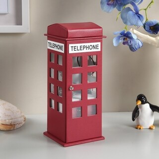 11.5 Inch British Telephone Booth Leahter Jewelry Box