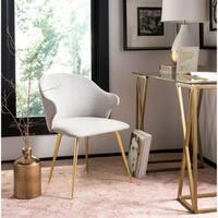 "Safavieh Couture Edmond Poly Blend Arm Chair / Light Grey - 23""w x 24""d x 30""h"