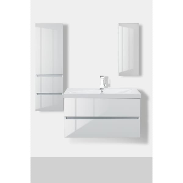 Shop Sangallo Gloss Collection 36 Quot Wall Mount Bathroom