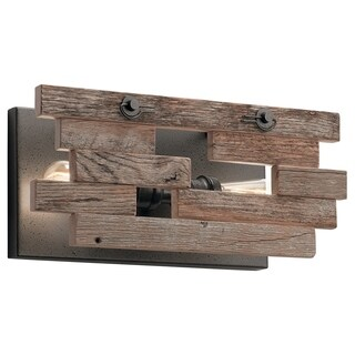 Kichler Lighting Cuyahoga Mill Collection 2-light Anvil Iron Wall Sconce