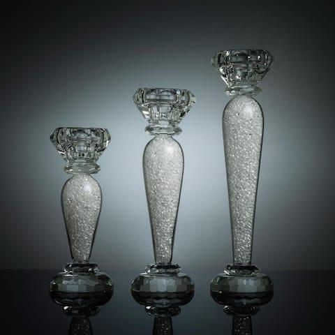 Premium 6, 7 & 9 Inch Crystal Candlestick (3-Piece Set)