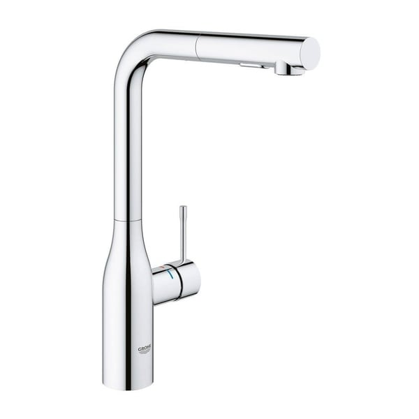 Shop Grohe Essence New Single Hole Single Handle Kitchen Faucet With Dual  Spray In StarLight Chrome   Free Shipping Today   Overstock   22096527
