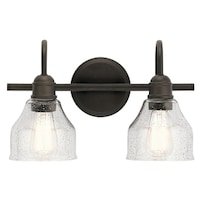 Shop Capital Lighting Baxter Collection Light Burnished Bronze - 2 light bathroom vanity fixture