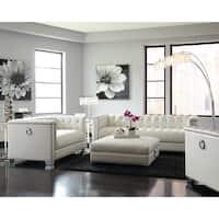 Chaviano Contemporary White Loveseat
