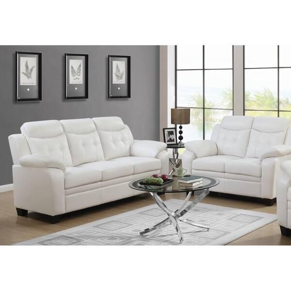 Excellent Shop Finley Bonded Leather Sofa Free Shipping Today Inzonedesignstudio Interior Chair Design Inzonedesignstudiocom