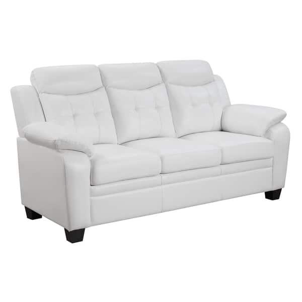 Superb Shop Finley Bonded Leather Sofa Free Shipping Today Inzonedesignstudio Interior Chair Design Inzonedesignstudiocom