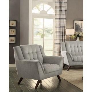 "Baby Natalia Mid-century Modern Dove Grey Chair - 41"" x 35"" x 39"""