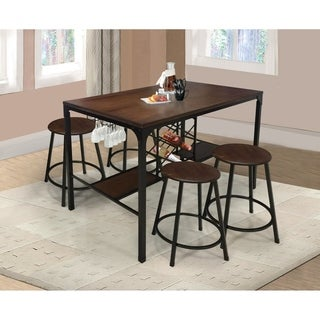 Home Source August 5 Piece Counter Height Bar Set