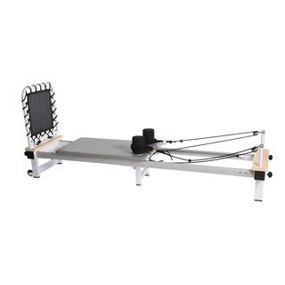 AeroPilates Precision Series Reformer 610 with Cardio Rebounder - Grey/White