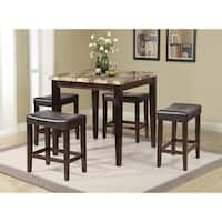 Home Source Tilda Black and Cherry Five Piece Counter Height Dinette Set