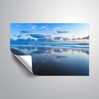 ArtWall Blue shores Removable Wall Art